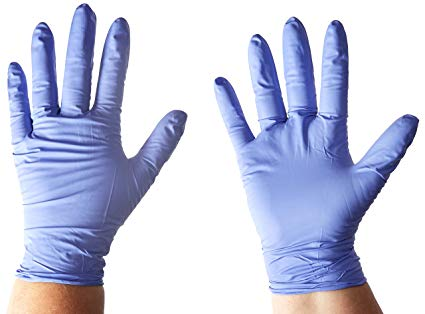 Exam Gloves nitrile(latex free) non-sterile pwd free (S-L)BLUE Image