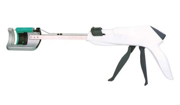 Disposable Curved Cutter Stapler and Reloading Unit Image